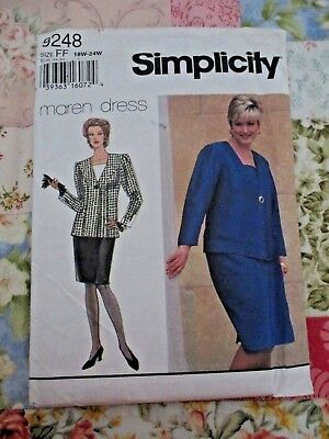 Simplicity Women's Skirt & Jacket With Front Inset Sewing Pattern #9248 ~ Uncut