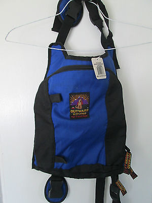 Outward Hound backpack style dog pack pet vest H2o on the go life jacket LARGE