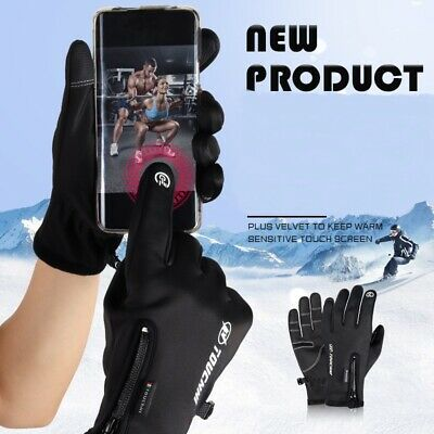 Men Women Winter warm Windproof Waterproof  Sport Ski Touch Screen Gloves