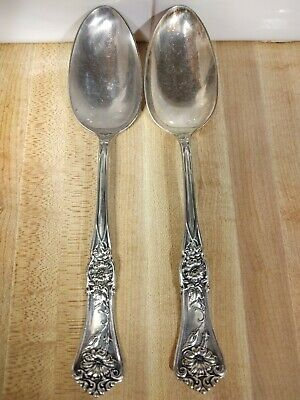 2 Serving Spoons Wm A Rogers SXR Silver Plate Grenoble / Gloria