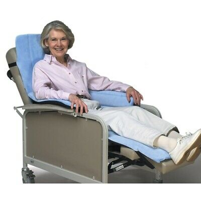 "SKIL-CARE Geri-Chair 703002 Cozy Seat Backrest 52"" X 21"" Blue Hospital Pad NEW"