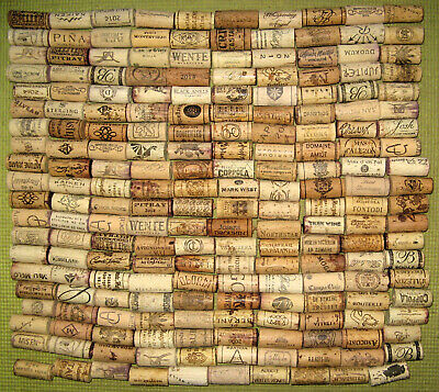 200 Natural Used Wine Corks, No Synthetic, No Champagne