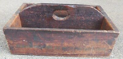 Antique Primitive Wooden Tool Tray Box Tote Carrier  ~ Remington Arms Shur Shot