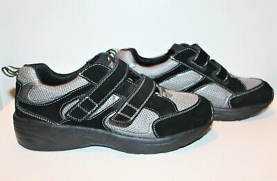 Answer2 Mens Leather Sneakers Athletic Shoes Black & Gray Size 10M Style 561-1
