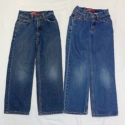Levi's 550 Relaxed 10 Slim 4 Pairs of Boys Blue Jeans 23 x 25