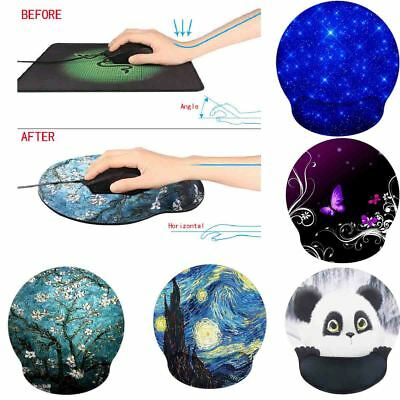 Ergonomic Optical Mouse Pad Mice Mat With Comfort Soft Wrist Rest Support Pad AU