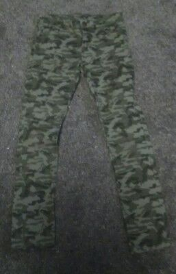 Girls Miss E-vie Camouflage Trousers 11-12yrs