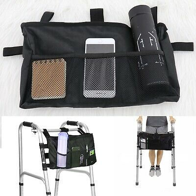 Adjustable Handle Scooter Walker Storage Walker Walking Frame Aid Bag Basket