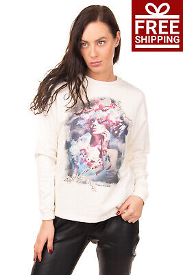 ROMEO & JULIETA Sweatshirt Size XS Printed Crew Neck Pullover Made in Italy