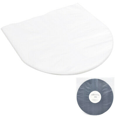 50PCS Antistatic Clear Plastic Cover Inner Sleeves For 12'' LP LD Vinyl Record