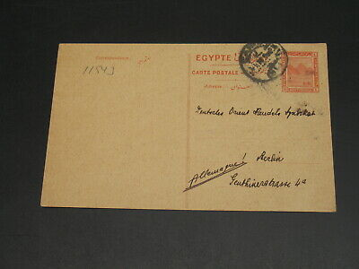 Egypt 1914 postal card to germany *11543