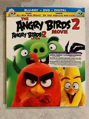 The Angry Birds 2 Movie Blu-Ray & DVD w Slipcover Canada Bilingual NO DC LOOK