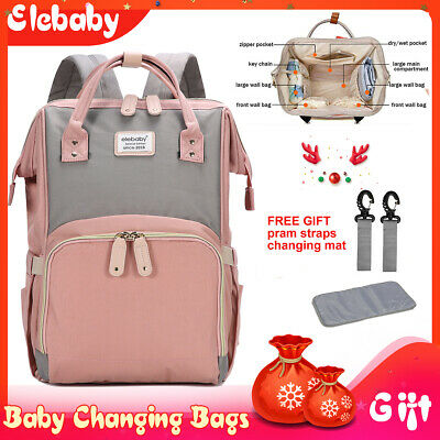 Baby Diaper Nappy Changing Mummy Bag Rucksack Multifunctional Backpack Hospital