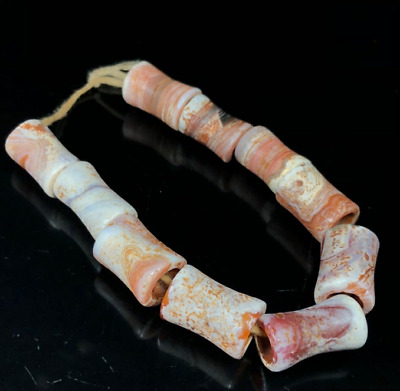 Ancient China Natural weathering Chicken bone White old agate Bracelets bi xie