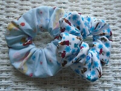 Pack Of 2  Disney Princess & Frozen Toy Figures Scrunchies Scrunchy Fabric New