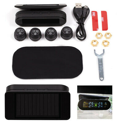 TPMS External 4Capteur solaire Wireless Car Tire Tyre Pressure Monitoring System