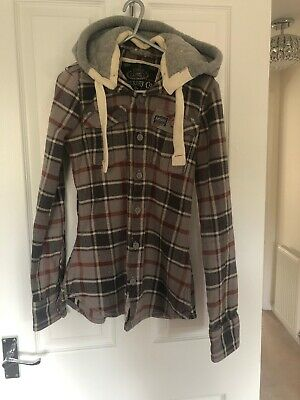 Girls Superdry Hooded Top Small
