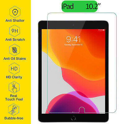 "Tempered Glass Film Screen Protector For Apple iPad 10.2"" 7th Generation New Gen"