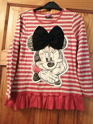 Girls Aged 8-9 Years Mini Mouse Top From George