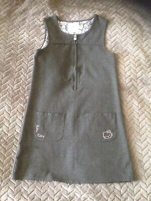 Girls Grey School Uniform Pinafore Dress 5-6 Years