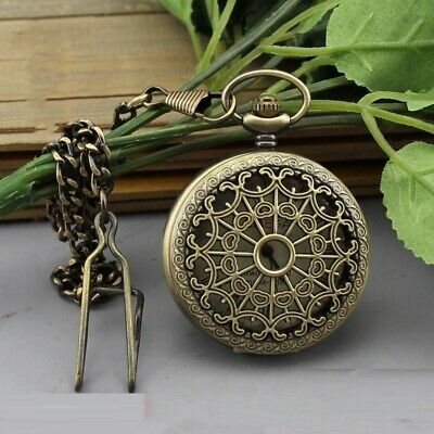 Collectables old delicate brass mechanical pocket watch