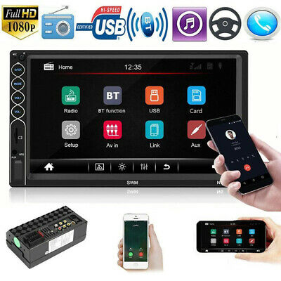 2DIN 7 Inch Car Multimedia Player Touch Screen Stereo Video MP5 FM USB AUX Radio