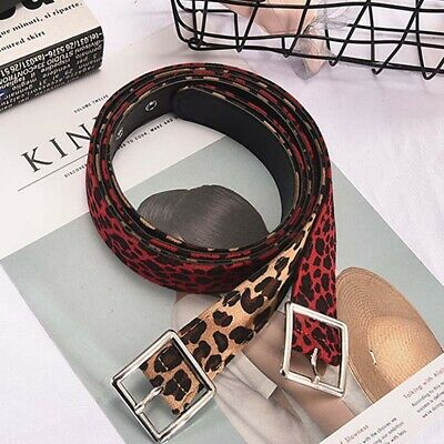 Woman Lady Leopard Print Dress Strap Belts Female Fashion Girls Waistband