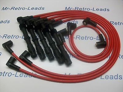 Red 8.5Mm Performance Ignition Lead Audi Coupe 2.2 2.0 20V Turbo 200 90 7A 3B Nm