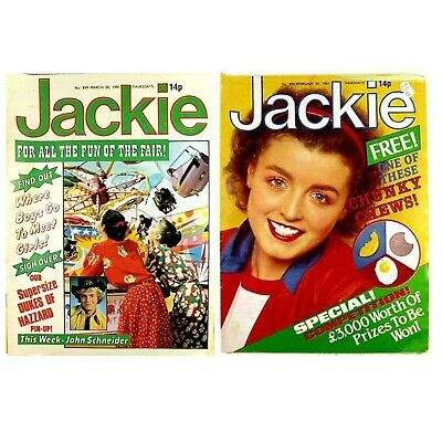 Jackie Magazine x 2 Vintage Issues from 1981