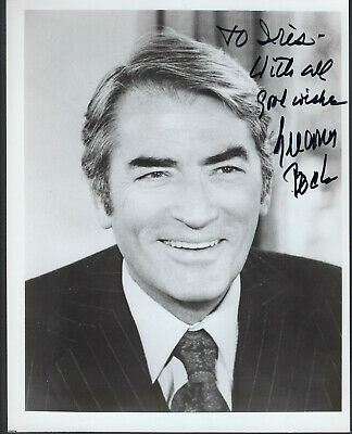1980'S  Gregory Peck  PHOTO 8x10  WITH DEDICATED AUTOGRAPH  (MP41)