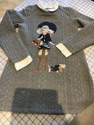 Girls Designer MAYORAL Jumper Dress - Age 8 Years in Very Good Condition