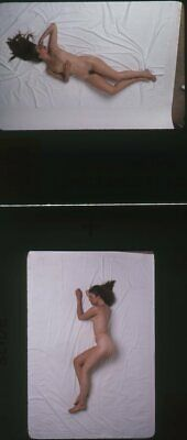 1960s Nude Model Flowing Hair Photo Transparency Slide Lot Avedon Asst (12pc)