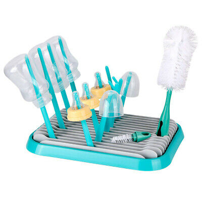 Baby Bottle Drying Rack Silicone Cleaning Brush Dryer Holder For Feeding SELECT