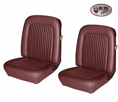 1968 Mustang CONVERTIBLE Front & Rear Seat Upholstery - Dk Red - Made by TMI