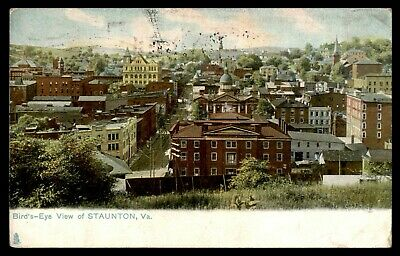 Mayfairstamps Virginia Birds Eye View of Staunton Postcard wwc43549