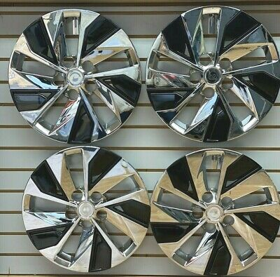 "NEW 16"" Hubcap Wheelcover for 2019 2020 Nissan ALTIMA Chrome / Black SET"
