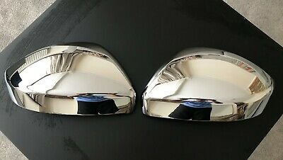 Chrome Wing Mirror Covers Fits Jaguar E-Pace F-Pace 2016+ Door Wing Trim Cover