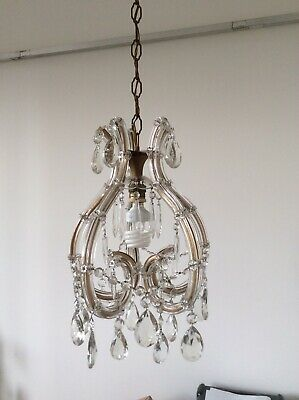 The Most Beautiful Vintage French Murano Marie Therese Cage Chandelier, c1940s