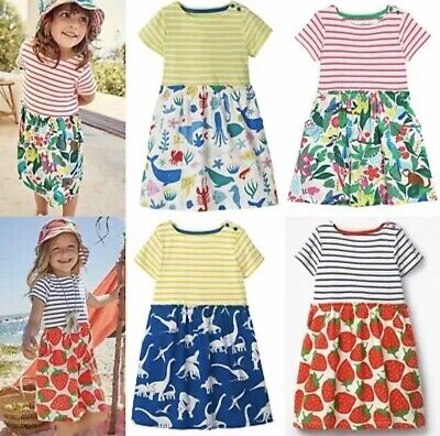 NEW IN Ex Mini Boden Hotchpotch Ditsy Flower Print Dresses 2-12Yrs