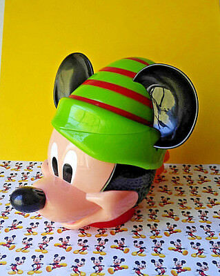 Disney Popcorn Mug Holder Mickey Mouse Christmas Snack Cup Mickey Elf Plastic