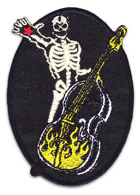 Rock´n Roll Skelett Band Rockabilly Ska Punk Aufnäher Patch Bügelbild Aufbügler
