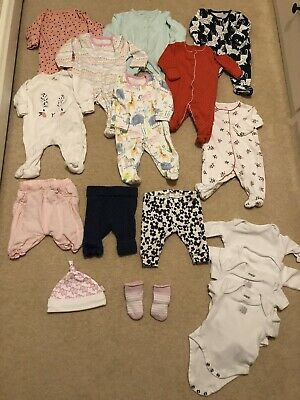 Newborn Baby Girl Clothes Bundle - Includes JoJo Maman Bébé, Next, Mamas & Papas