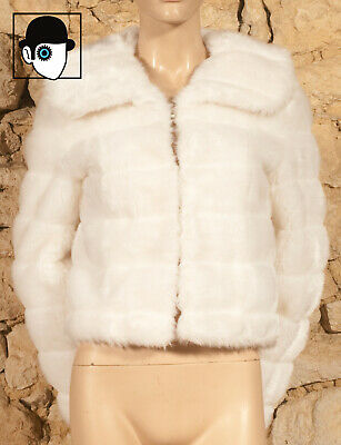 VINTAGE 70's FAUX FUR JACKET - UK 6 or 8