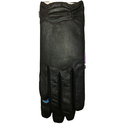 Isotoner Signaure Ruched Hem Stretch Leather SmarTouch Tech Gloves