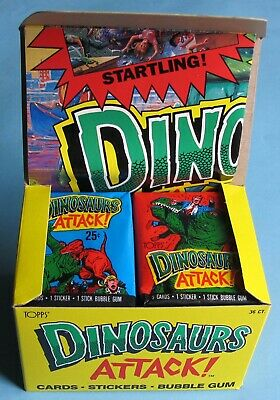 1988 - Topps - Dinosaurs Attack! - Unopened Box - 36 Ct. - Case Fresh!!