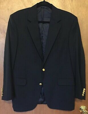 Brooks Brothers Navy Two Button Classic 1818 Blazer Madison Fit - Sz 40R