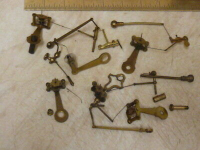 Useful Lot Old Aneroid Barometer Movement Parts- Spares (24)