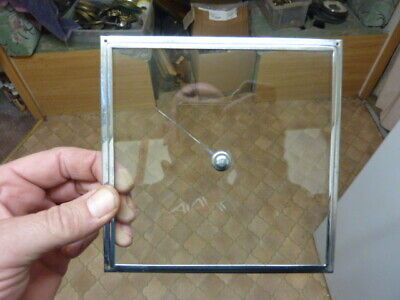"Old Aneroid Barometer 6"" Square  Bezel-Glass-Hand-Set Knob- Free Post (Wo2)"