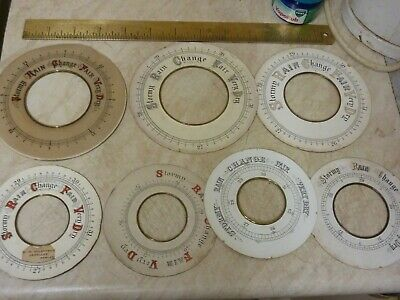 Useful Lot 7 Old Barometer Dials (B) Free Uk Post
