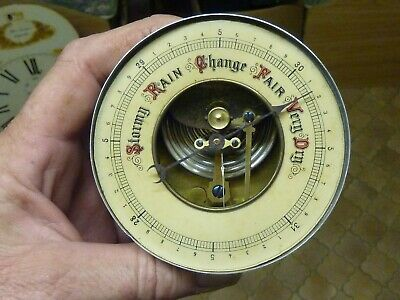 Good Old Aneroid Barometer Movement - Hand Etc-- Working Fine (Cel) Free Post